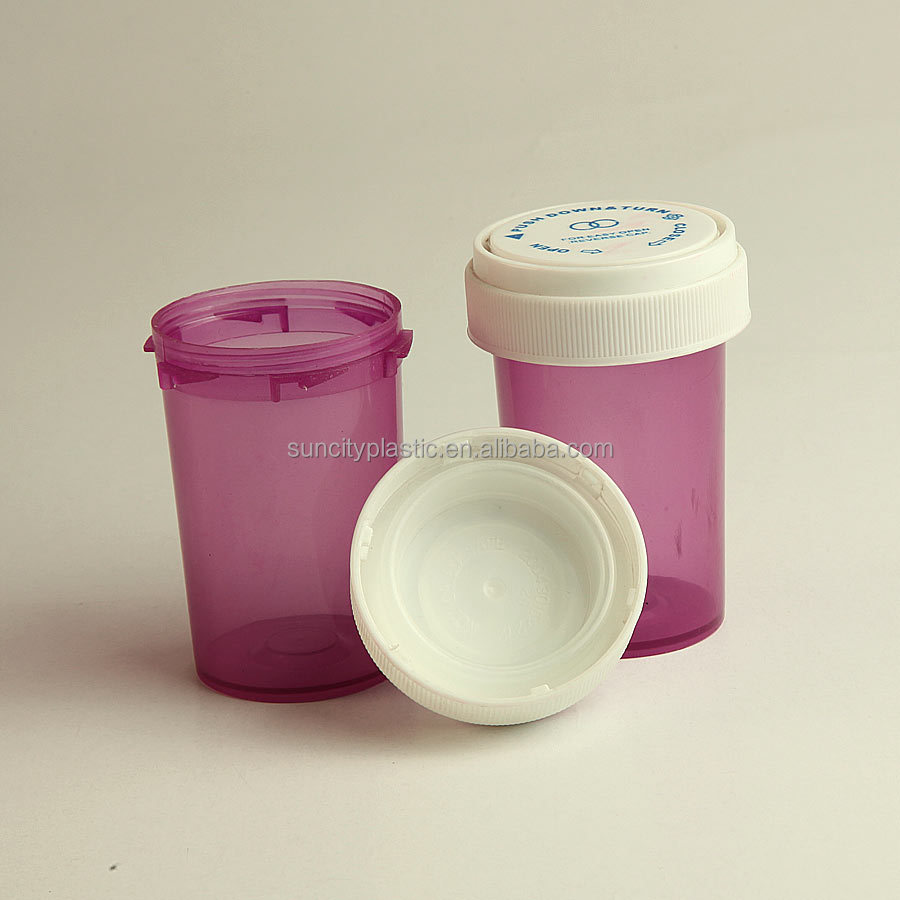 Purple Opaque Plastic Vials 10 ml 20 ml 30 ml 50 ml with CR Cap