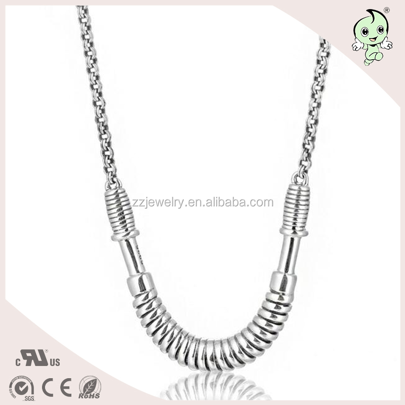 2017 New Product Sports Machine Design Handmade High Quality 925 Sterling silver Necklace