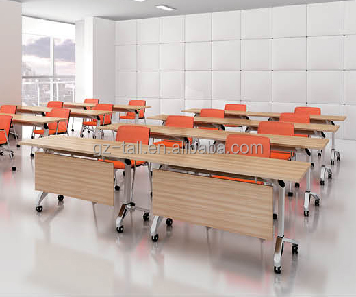 modular office furniture school combination wooden student folding training table