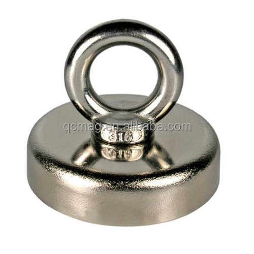 Super Strong Salvaging Magnet D75mm Magnetic POT With Circular Rings