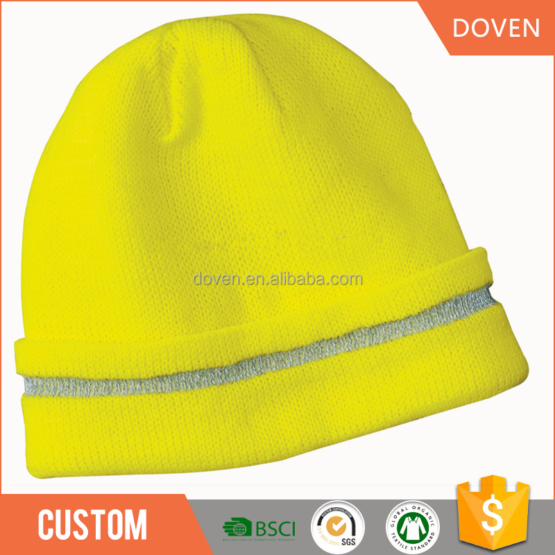 OEM manufacturer Reflective 100% Acrylic beanies