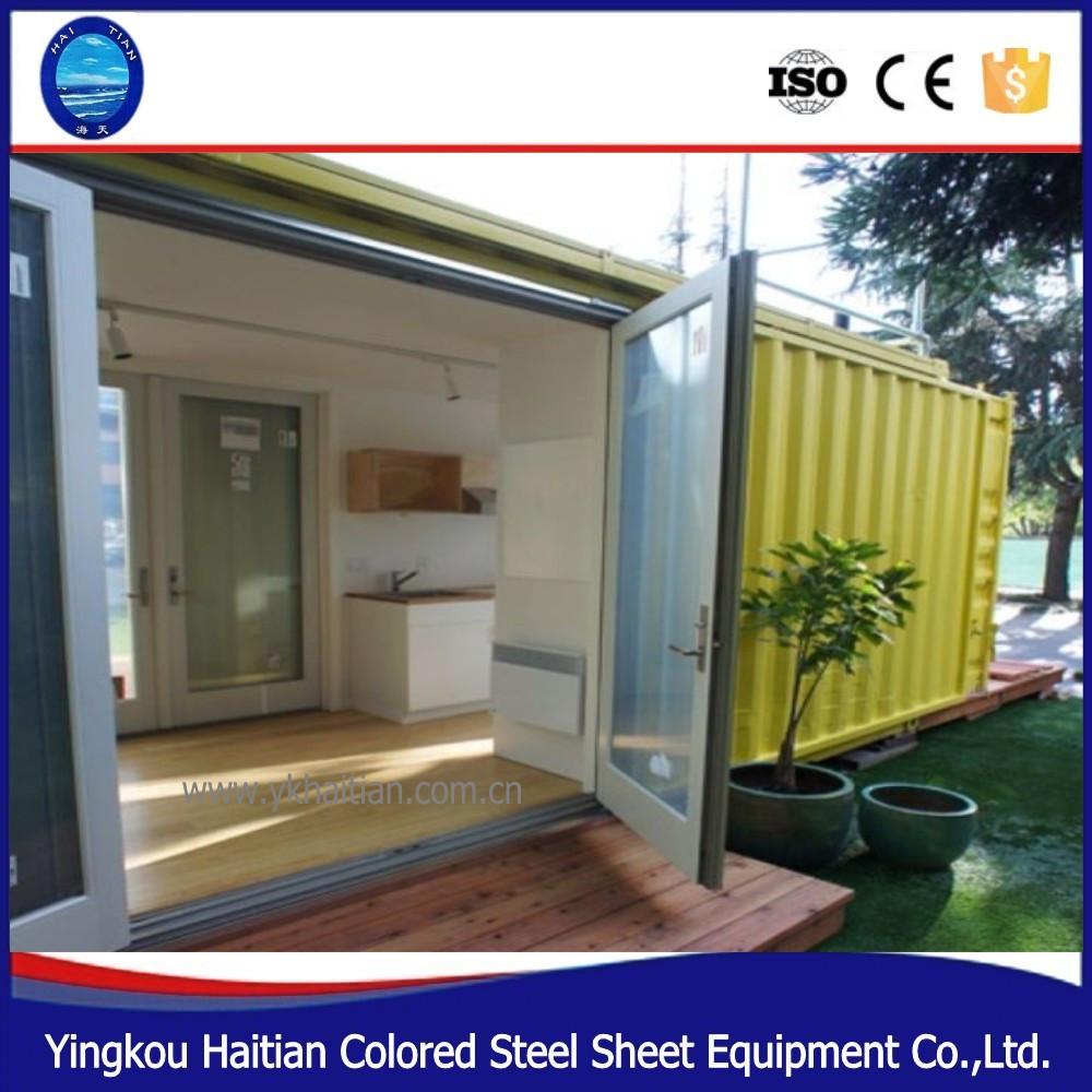 1 slaapkamer geprefabriceerde modulaire huizen moderne for Goedkope prefab woningen
