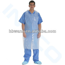 Disposable surgical hospital dental apron