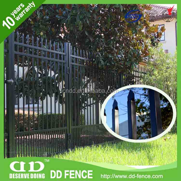 AFA certified solid metal fence/ panels steel fence supply/ fence supply store