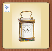 China Polaris hot sale antique mantel brass table clock