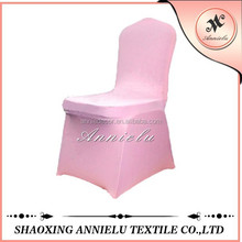 Popular sale pink stretched spandex chair cover for wedding banquet
