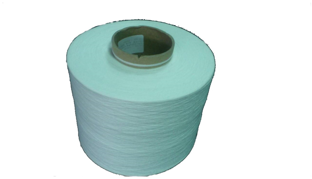 1/20 NE 100% POLYESTER MJS WAXED RAW WHITE YARN ON CONE