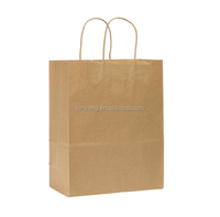 Eco-friendly Plain Kraft Paper Shopping Bag Customizable Paper gift Bag paper bag with handle(CZ-877)