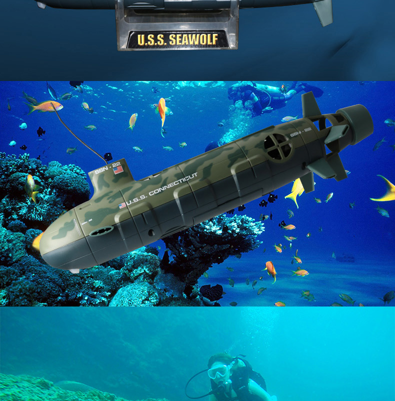 2019 upgraded electric us remote control U.S.S Seawolf nuclear rc submarine toys warship warcraft model