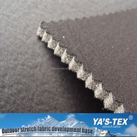 2016 China suppliers grey color knitted fabric bonded fleece fabric for winter warm suits