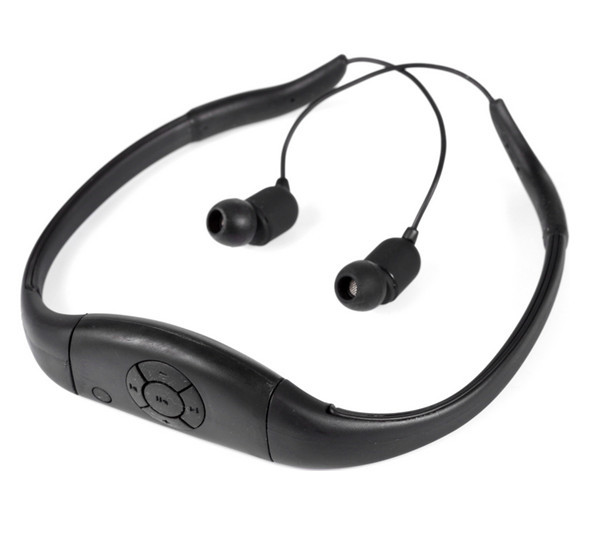 Swimming Sports Earphone Waterproof IPX8 Bluetooth V4.0 Stereo Headset With Two Devices Pairing