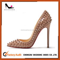 Trendy high heel pointed toe pumps special design shoes for women