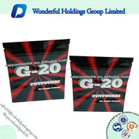 Customized printing aluminum foil three side seal bag with zipper top