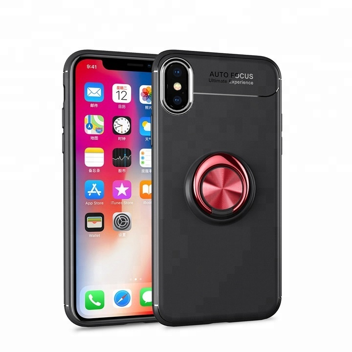 Rotation Ring Holder Custom Phone Cases For iPhone X 10 Case,Luxury Car Magnetic Holder Silicone Cover For iPhone <strong>Accessories</strong>