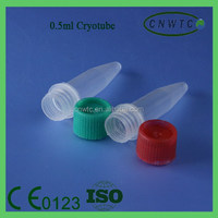 Plastic Conical Bottom 0.5ml Cryovial Tube With Cap