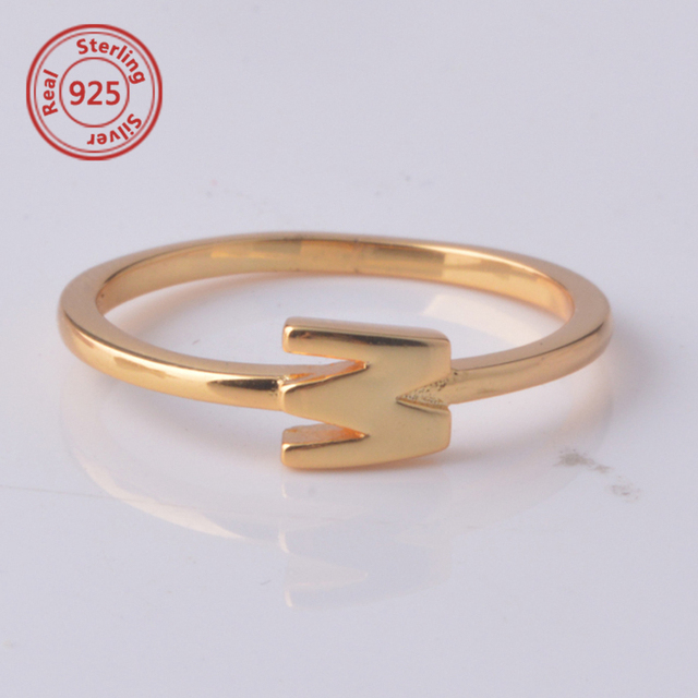 stacking 14k gold ring custom initial ring personalized jewelry