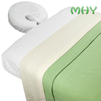 Manufacturer Supplier bed massage sheets 50% cotton 50% polyester