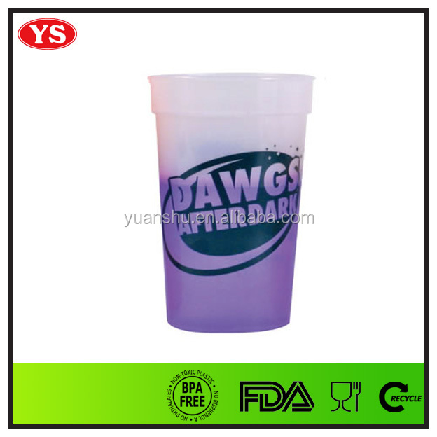 16 mood change color plastic cup stadium cup