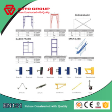 aluminium layher scaffolding frame system for building construction