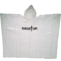 Hot selling Promotion Customer Logo printing Cheap waterproof disposable Poncho