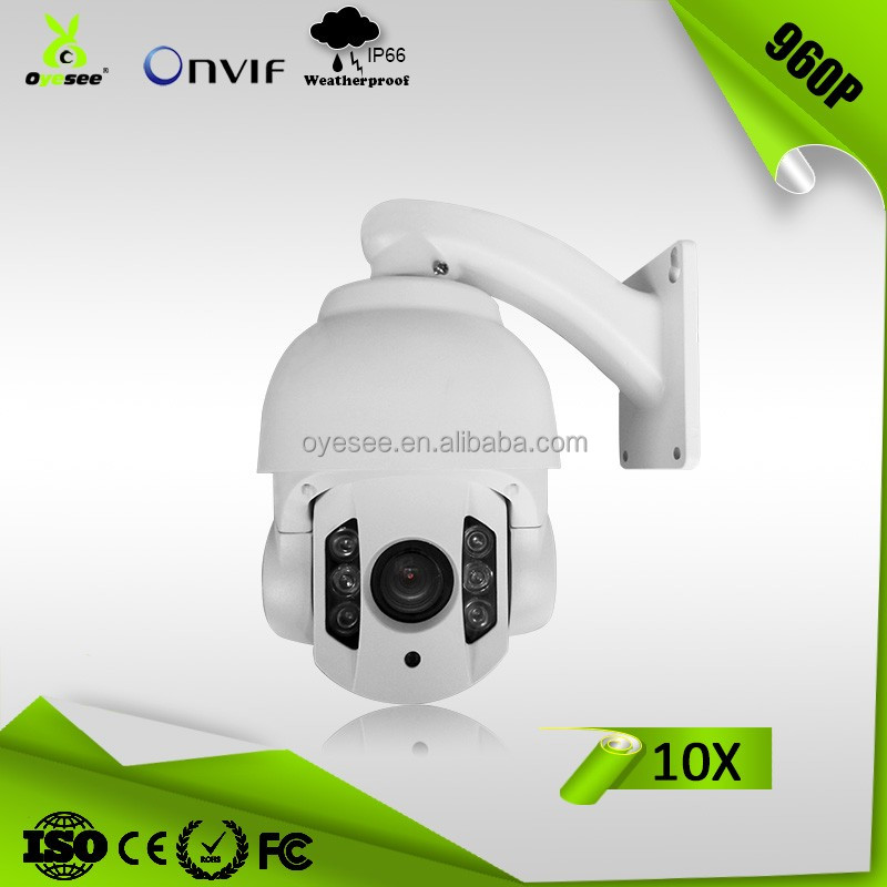 OIP130-10PTM 960P 1.3 Megapixel 10X Optical Zoom 60 meters IR range 4 Inch Weatherproof IP66 ptz ip cameras outdoor