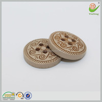 China factory 4 holes round OEM decorative pattern coconut buttons