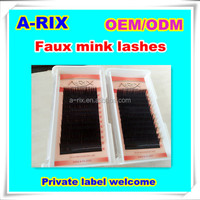 best selling korean cosmetic 0.05 0.07 Volume mink eyelashes private label eyebrow extension kit