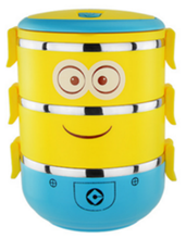 Popular personaje <span class=keywords><strong>de</strong></span> <span class=keywords><strong>dibujos</strong></span> <span class=keywords><strong>animados</strong></span> lindo minion Amarillo/<span class=keywords><strong>almuerzo</strong></span>/Bento/alimentos countainer Venta caliente