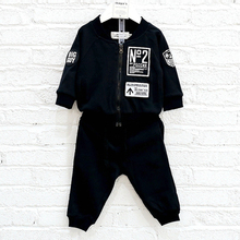 Latest design popular China garments coat boys clothing set kids