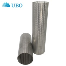 Wire wrapped continuous 0.1mm slot water well wedge wire screen pipe