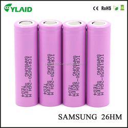 electric vehicle battery for Samsung icr18650-26hm 2600mah 3.7v led rechargeable li ion battery