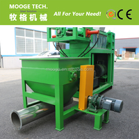 Wet plastic film squeezing dryer machine for recycling line