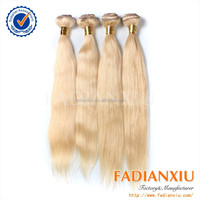 "European blond hair 12""-40"" natural wave factory direct sale and can be customized"