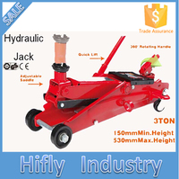 HF-T83006F 3 Tons High Quality Manual Hydraulic Jack SUV Quick Lift Trolley Jack (CE GS RoHS Certificate)