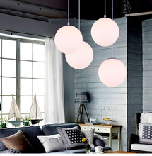 Led creative hanging indoor decorative ball store chandeliers aisle bar glass big ball pendant lamp light