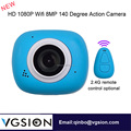 Full HD 1080P 2.4G Remote Controller Selfie 140 Degree Wide Angles Mini WiFi Magnetic Sport Action Camcorder Camera
