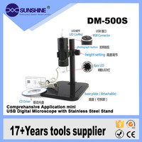 Factory price long working distance usb portable digital electron microscope for pc