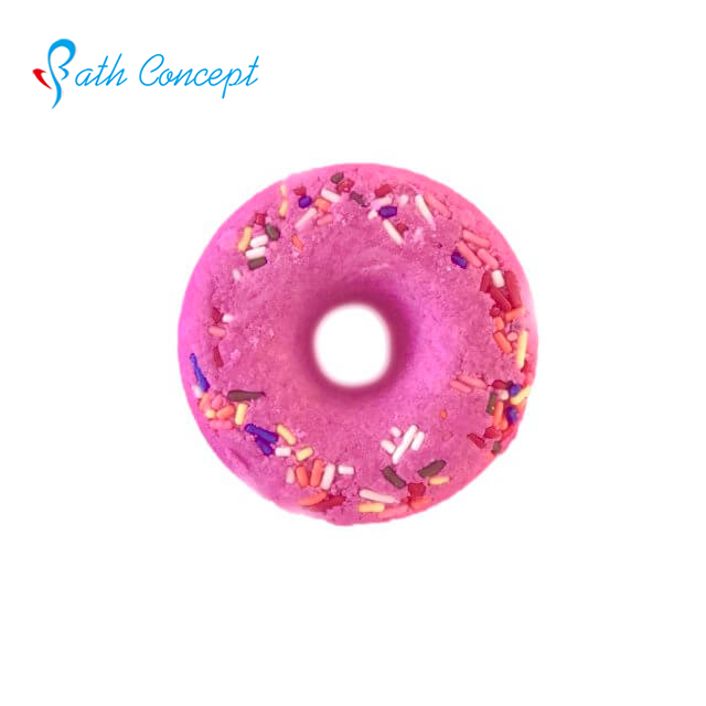 doughnut and macaron cute attractive bath bomb can with toys inside