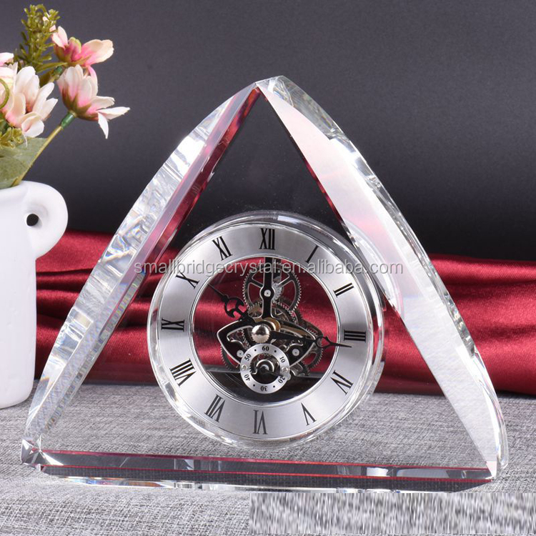 XQA14 Pujiang Wedding Favor Crystal Table Desk Clock Crystal Clock