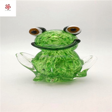 Chinese supplier murano large glass frog sculpture