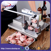 Manual Frozen bone Slicer, Stainless Steel Handle bone Cutter Beef Slicing Machine Cutting Beef Mutton Rolls