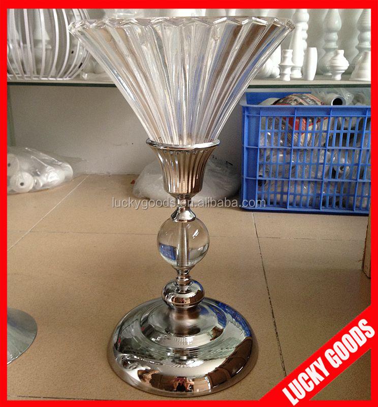 Cm wholesale glass candelabra centerpiece for table