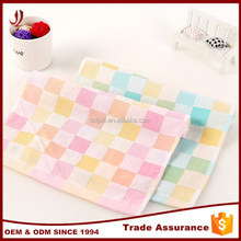 Factory supply cheap plain cloth small check hand towel handkerchief