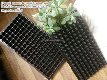 Nursery Seed Trays and HIPS Plastic Type Black Plug Seedling Planting Trays