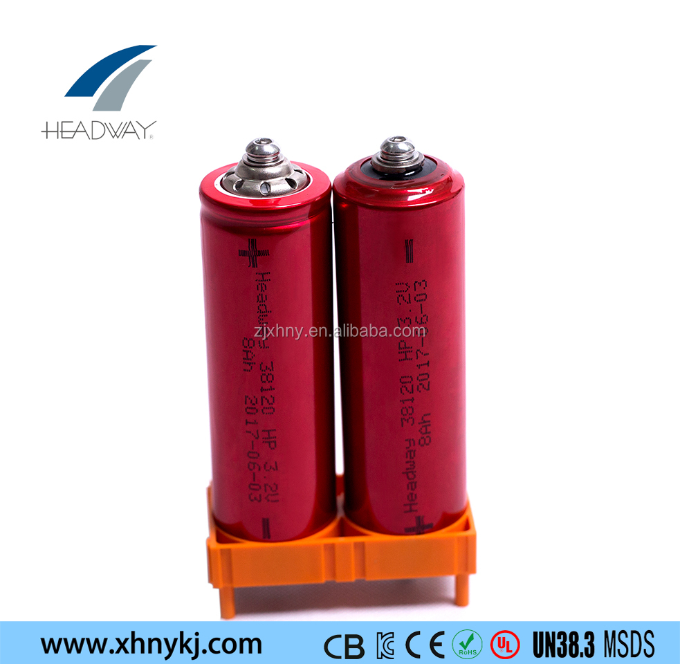 Headway fast charge high current lithium ion lifepo4 battery 38120HP 3.2V 8AH cell for electric vehicle