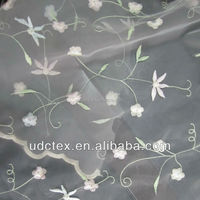 Embroidered Organza/organdy Fabric fo Dress and Garment