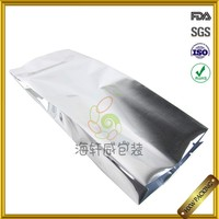 Food Grade Aluminium Foil Silver Color Packaging Bag/ Plastic Bag For Toy