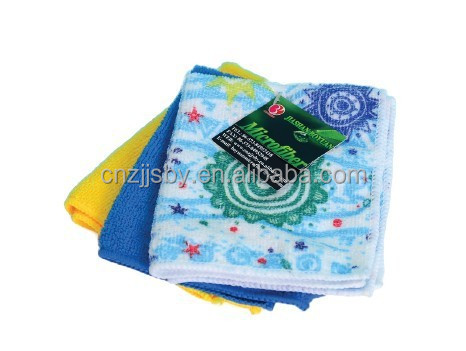 Customized Printing Mircofiber Towel Packed with Paper Card and Hook