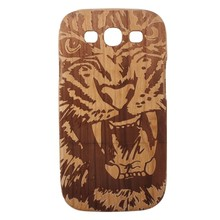 Tiger pattern case for samsung s3 wood phone case smart cover case for samsung galaxy s3