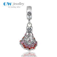 Fashion Wedding Dress 925 Silver Loose Beads Pendants Fine Jewelry Color Silvery and Multicolor